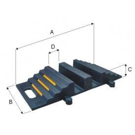 Mostek przejazdowy gumowy do węży pożarniczych 2xØ75 (symbol handlowy MPG-2x75)