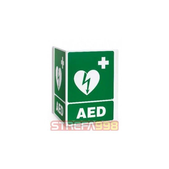 Oznakowanie umieszczenia miejsca AED - tablica 3D