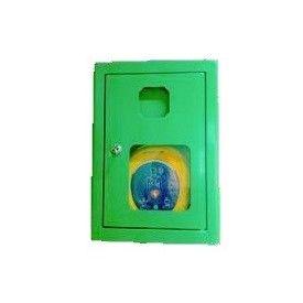 """Szafka AED z alarmem akustycznym i systemem """"zbij szybkę"""""""