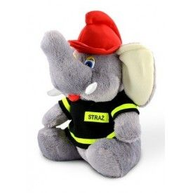 Maskotka słoń strażak mały