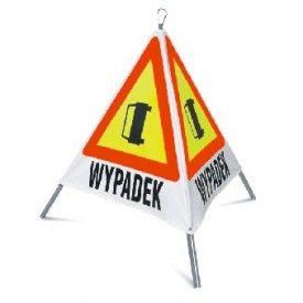 """Trójkątny znak składany """"WYPADEK"""""""
