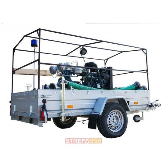 Przewoźna motopompa powodziowa LWT 250K 250 m3/h - Woda czysta i brudna
