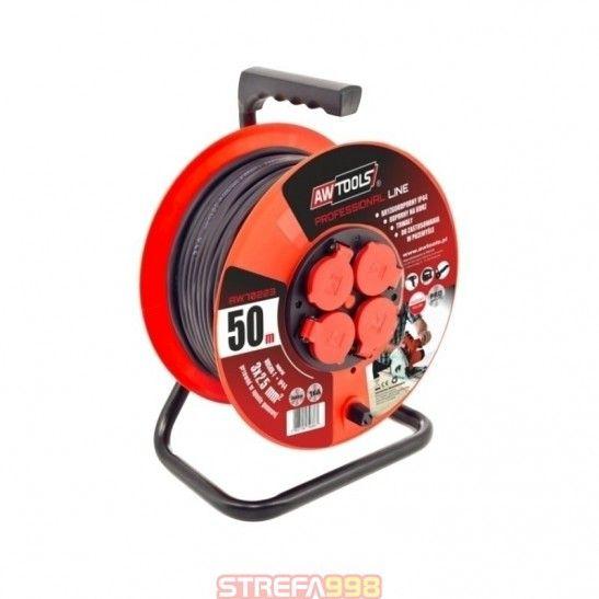 PRZEDŁUŻACZ BĘBEN PROFESSIONAL 50m 3x2,5mm - Przedłużacze elektryczne
